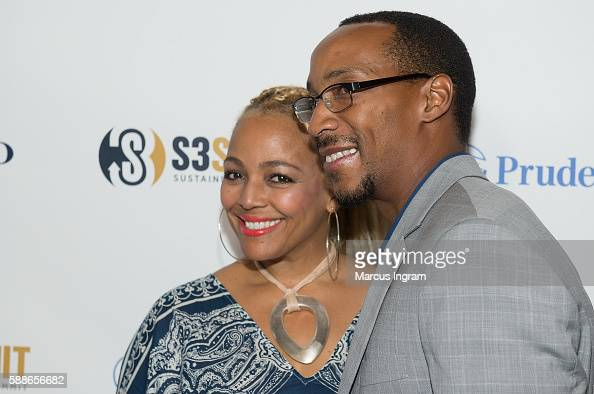 Actress Kim FieldsMorgan and Christopher Morgan attend the 2016 S3 Summit/PRO2CEO at College Football Hall of Fame on August 11 2016 in Atlanta...