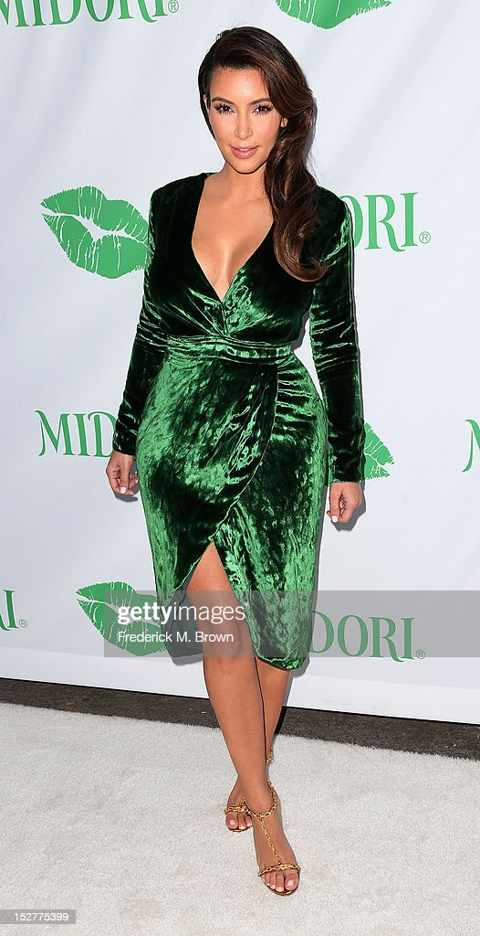 Actress Kim Kardashian hosts the Midori Makeover Parlour at Fred Segal on September 25 2012 in Santa Monica California