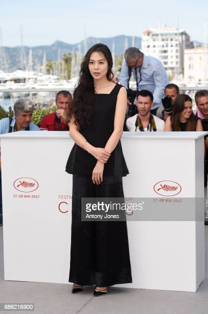 Actress Kim Minhee attends the 'Claire's Camera ' photocall during the 70th annual Cannes Film Festival at Palais des Festivals on May 21 2017 in...