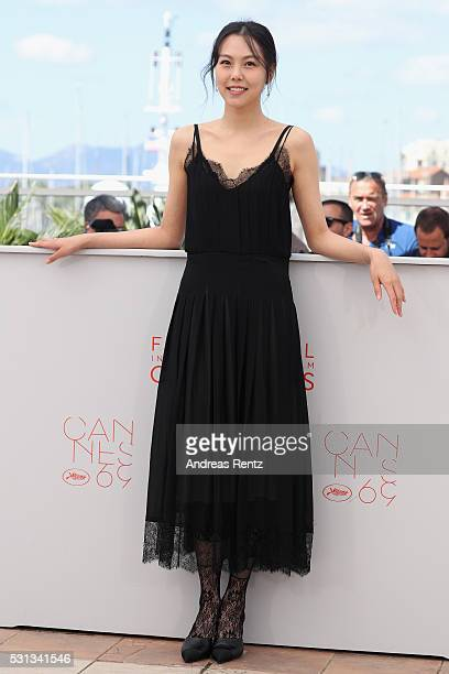 Actress Kim MinHee attends 'The Handmaiden ' photocall during the 69th annual Cannes Film Festival at the Palais des Festivals on May 14 2016 in...