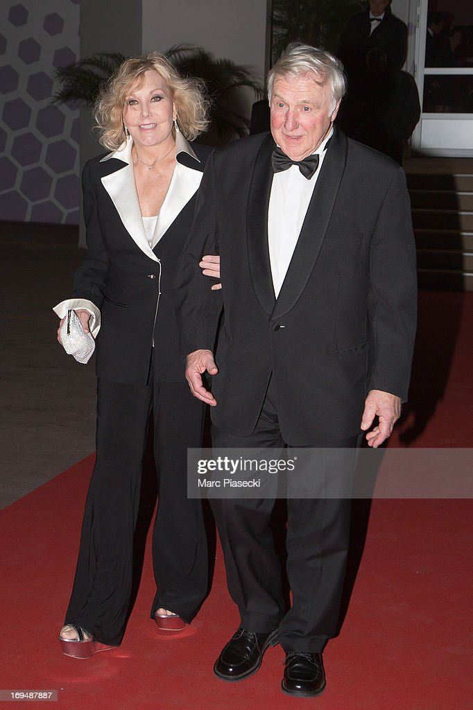 Actress <a gi-track='captionPersonalityLinkClicked' href=/galleries/search?phrase=Kim+Novak&family=editorial&specificpeople=91304 ng-click='$event.stopPropagation()'>Kim Novak</a> and Robert Malloy are seen leaving the 'Agora' dinner during the 66th Annual Cannes Film Festival on May 25, 2013 in Cannes, France.