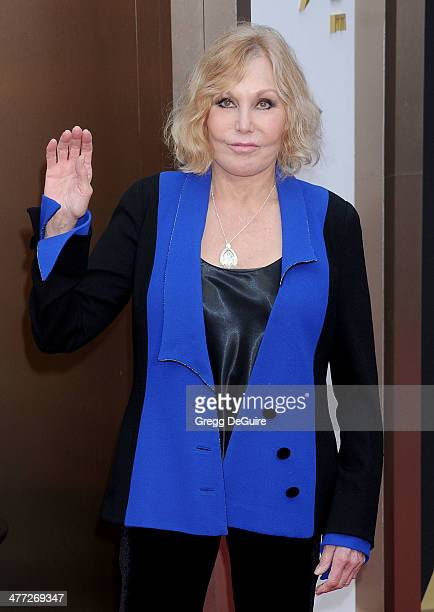 Actress Kim Novak arrives at the 86th Annual Academy Awards at Hollywood Highland Center on March 2 2014 in Hollywood California