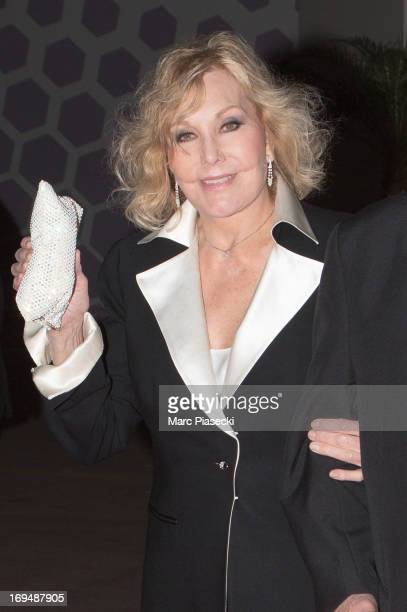 Actress Kim Novak is seen leaving the 'Agora' dinner during the 66th Annual Cannes Film Festival on May 25 2013 in Cannes France