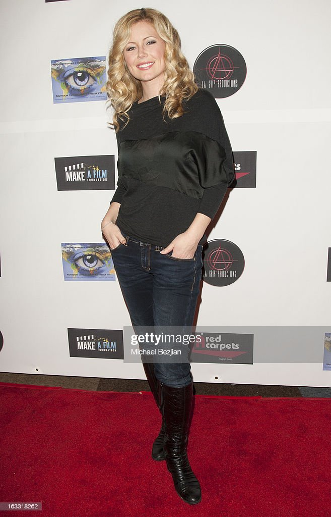 Actress Kim Poirier attends Make A Film Foundation's 'Kidz 4 Kidz' Comedy 4 A Cau$e Benefit Show at Writers Guild Theater on March 7, 2013 in Beverly Hills, California.