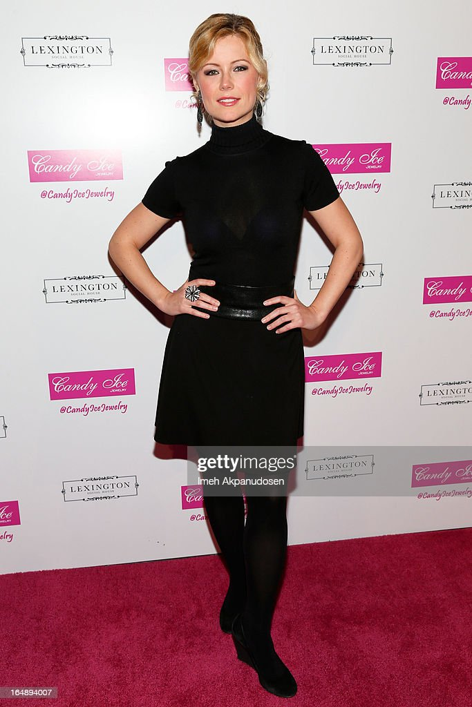 Actress Kim Poirier attends the Fire & Ice Gala Benefiting Fresh2o at Lexington Social House on March 28, 2013 in Hollywood, California.