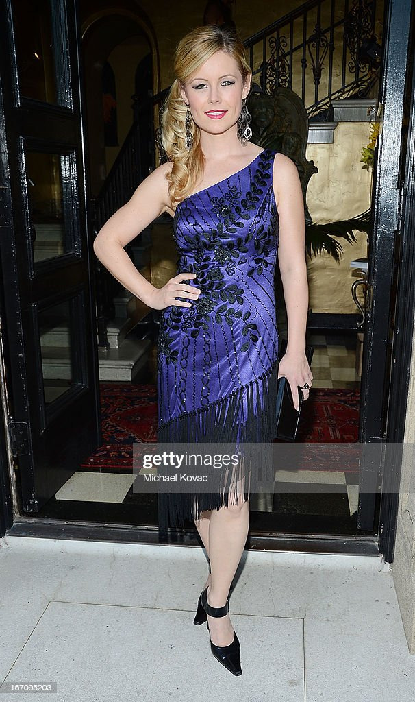 Actress Kim Poirier attends the Sue Wong Fall 2013 Great Gatsby Collection Unveiling and Birthday Celebration on April 19, 2013 in Los Angeles, California.