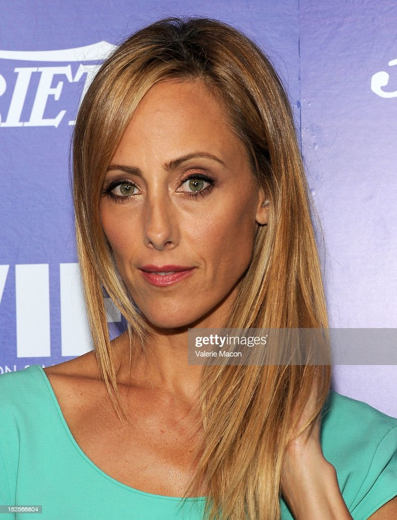 Actress Kim Raver arrives at the Variety And Women In Film Pre-Emmy Event at Scarpetta on September 21, 2012 in Beverly Hills, California.
