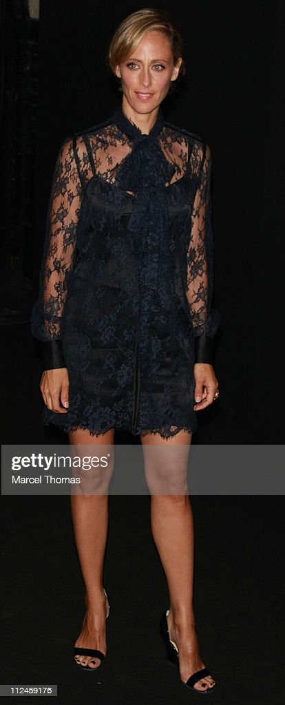 Actress Kim Raver attends the Marc Jacobs Spring 2009 fashion show during MercedesBenz Fashion Week at the NY State Armory on September 8 2008 in New...