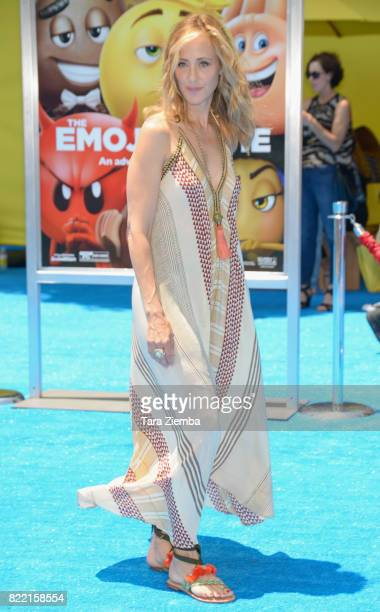 Actress Kim Raver attends the premiere of Columbia Pictures and Sony Pictures Animation's 'The Emoji Movie' at Regency Village Theatre on July 23...