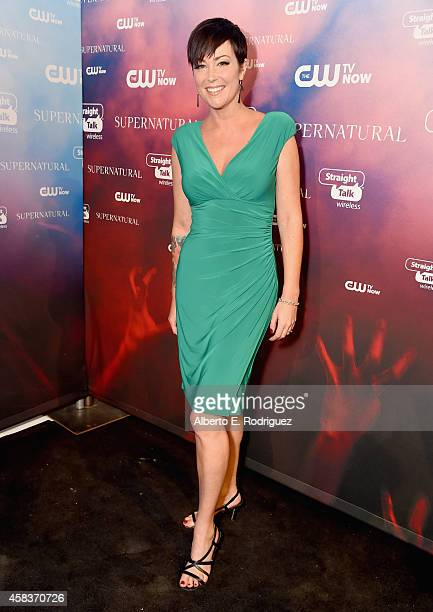 Actress Kim Rhodes attends the CW's Fan Party to Celebrate the 200th episode of 'Supernatural' on November 3 2014 in Los Angeles California