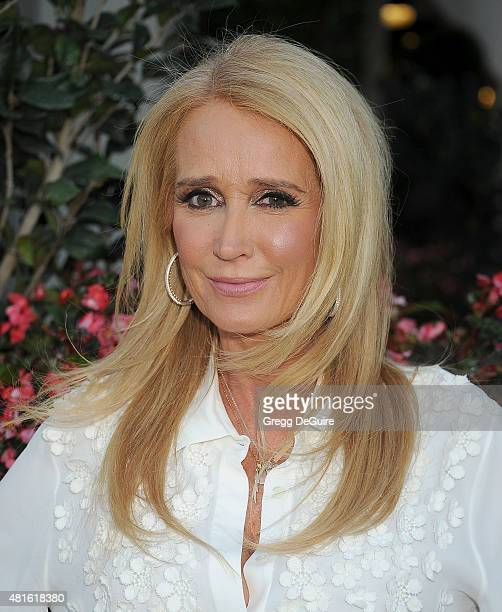 Actress Kim Richards arrives at the premiere of 'Sharknado 3 Oh Hell No' at iPic Theaters on July 22 2015 in Los Angeles California