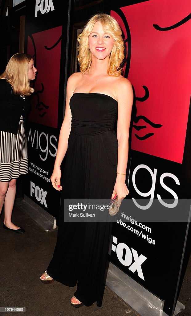 Actress Kim Shaw arrives for the party to celebrate the one year anniversary of The WIGS Digital Channel at Akasha on May 2, 2013 in Culver City, California.