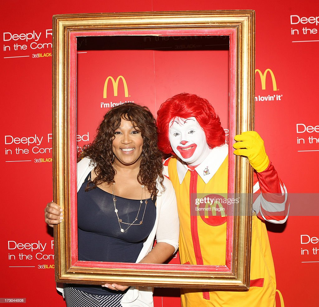 Actress Kim Whitley and Ronald McDonald attend the 2013 Essence Festival at the Ernest N. Morial Convention Center on July 5, 2013 in New Orleans, Louisiana.