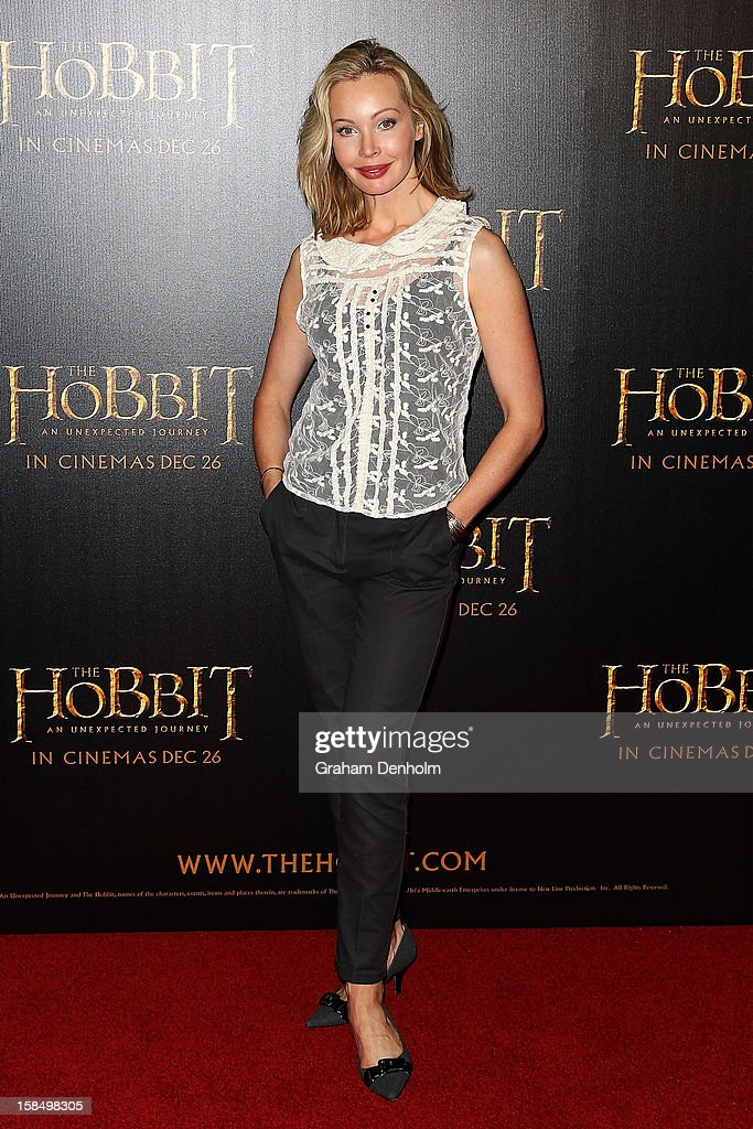 Actress Kimberley Davies attends the Melbourne premiere of 'The Hobbit: An Unexpected Journey' at Village Cinemas on December 18, 2012 in Melbourne, Australia.