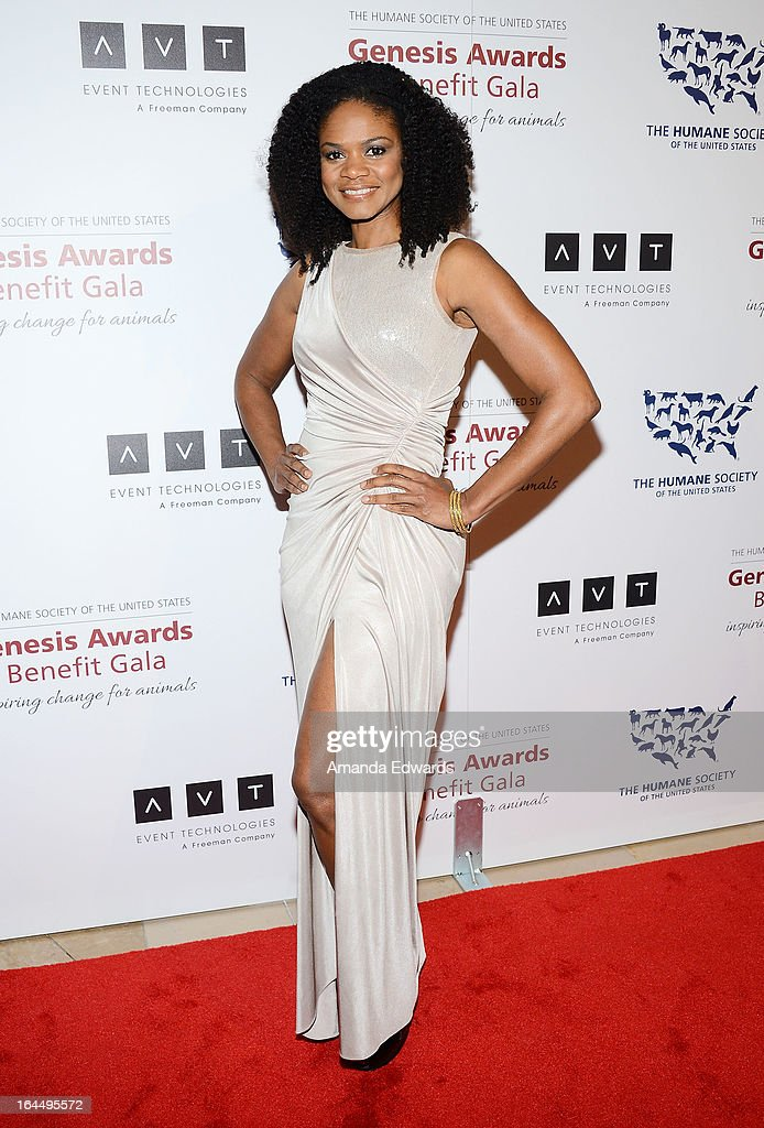Actress Kimberly Elise arrives at The Humane Society's 2013 Genesis Awards Benefit Gala at The Beverly Hilton Hotel on March 23, 2013 in Beverly Hills, California.