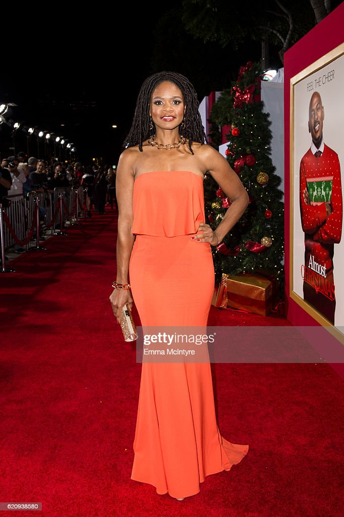Actress Kimberly Elise arrives at the premiere of Universal's 'Almost Christmas' at Regency Village Theatre on November 3, 2016 in Westwood, California.