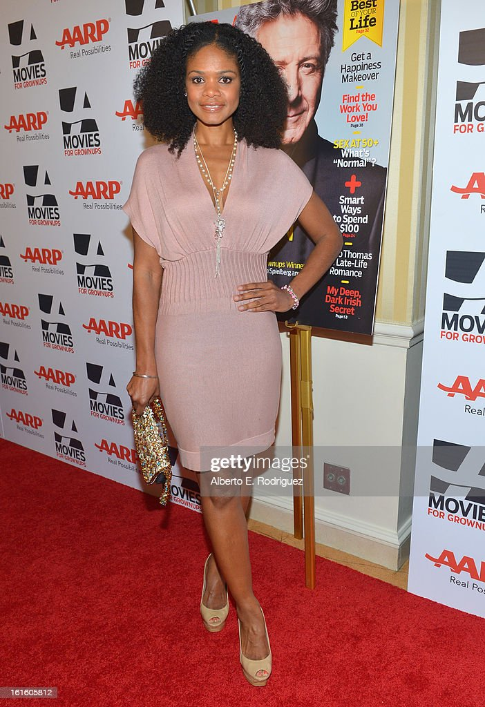 Actress Kimberly Elise arrives to AARP The Magazine's 12th Annual Movies for Grownups Awards Luncheon at Peninsula Hotel on February 12, 2013 in Beverly Hills, California.