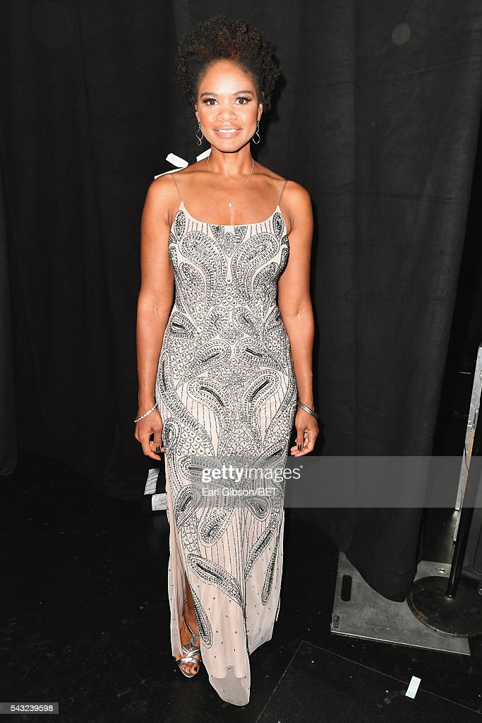 Actress <a gi-track='captionPersonalityLinkClicked' href=/galleries/search?phrase=Kimberly+Elise&family=editorial&specificpeople=211117 ng-click='$event.stopPropagation()'>Kimberly Elise</a> attends the 2016 BET Awards at the Microsoft Theater on June 26, 2016 in Los Angeles, California.