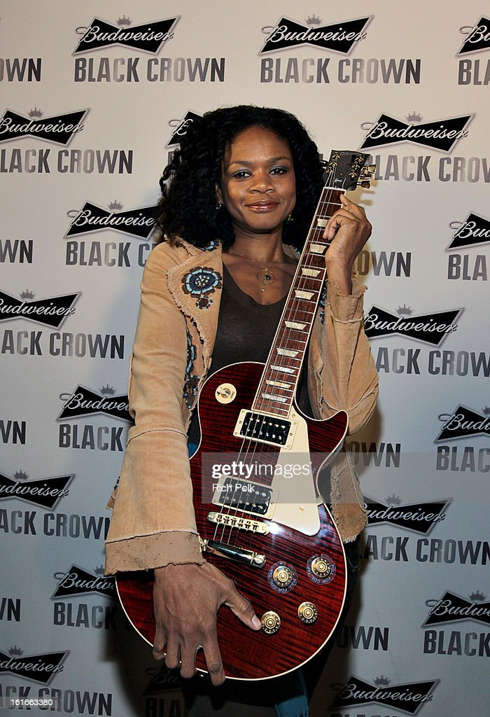 Actress <a gi-track='captionPersonalityLinkClicked' href=/galleries/search?phrase=Kimberly+Elise&family=editorial&specificpeople=211117 ng-click='$event.stopPropagation()'>Kimberly Elise</a> attends the Budweiser Black Crown Launch Party at gibson/baldwin showroom on February 13, 2013 in Los Angeles, California.