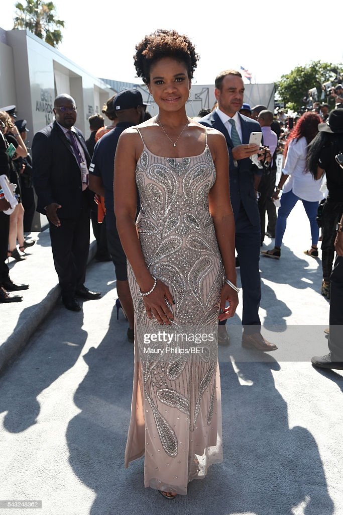 Actress <a gi-track='captionPersonalityLinkClicked' href=/galleries/search?phrase=Kimberly+Elise&family=editorial&specificpeople=211117 ng-click='$event.stopPropagation()'>Kimberly Elise</a> attends the Nissan red carpet during the 2016 BET Awards at the Microsoft Theater on June 26, 2016 in Los Angeles, California.