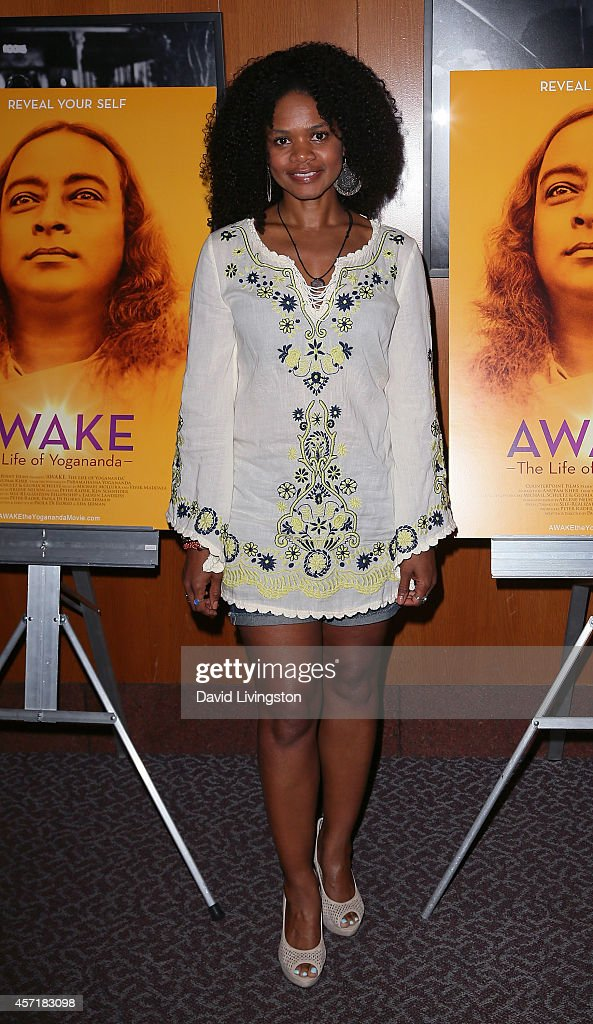 Actress Kimberly Elise attends the premiere of Counterpoint Films' 'Awake - The Life of Yogananda' at the Directors Guild of America on October 13, 2014 in Los Angeles, California.