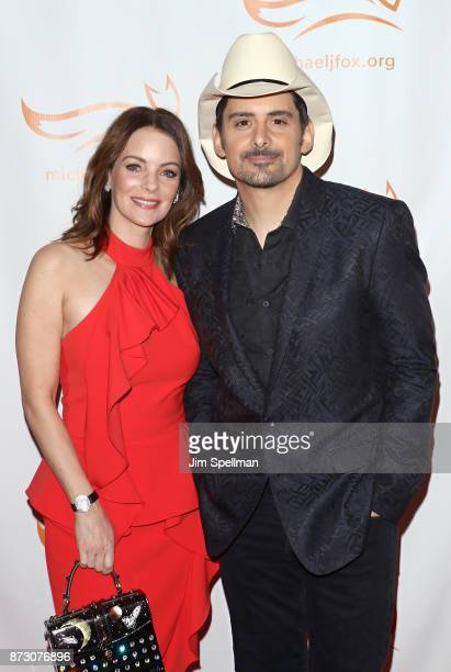 Actress Kimberly WilliamsPaisley and singer/songwriter Brad Paisley attend the 2017 A Funny Thing Happened on the Way to Cure Parkinson's event at...