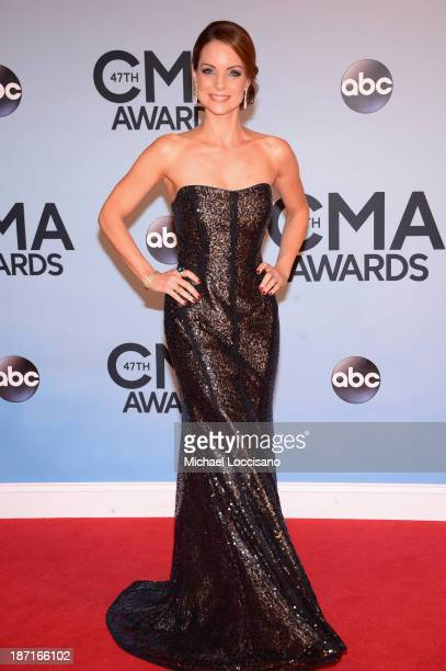 Actress Kimberly WilliamsPaisley attends the 47th annual CMA Awards at the Bridgestone Arena on November 6 2013 in Nashville Tennessee
