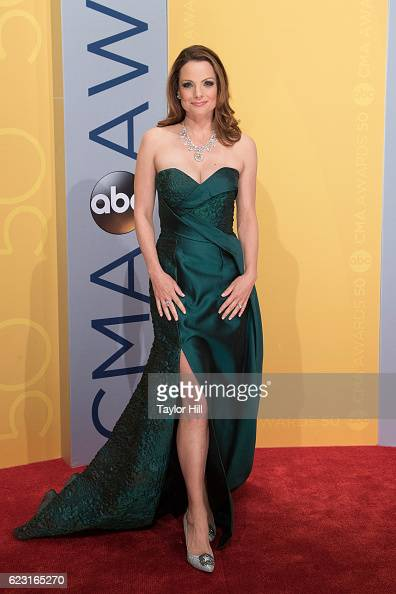 Actress Kimberly WilliamsPaisley attends the 50th annual CMA Awards at the Bridgestone Arena on November 2 2016 in Nashville Tennessee