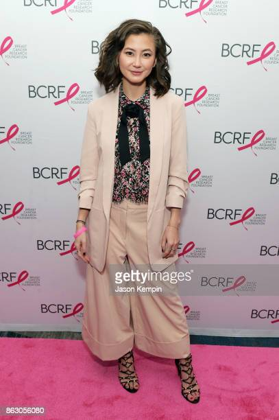 Actress Kimiko Glenn arrives at the Breast Cancer Research Foundation New York Symposium and Awards Luncheon at New York Hilton on October 19 2017 in...