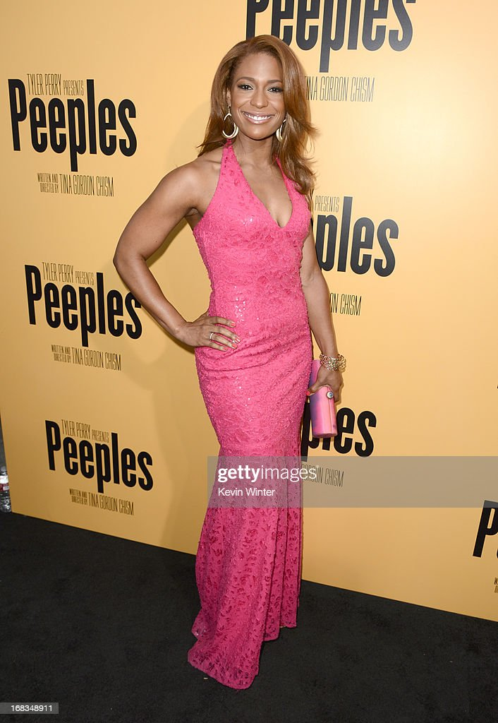 Actress Kimrie Lewis-Davis arrives at the premiere of 'Peeples' presented by Lionsgate Film and Tyler Perry at ArcLight Hollywood on May 8, 2013 in Hollywood, California.