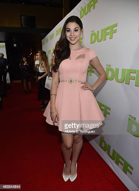Actress Kira Kosarin attends a Fan Screening of CBS Films' 'The Duff' at the TCL Chinese 6 Theatres on February 12 2015 in Hollywood California