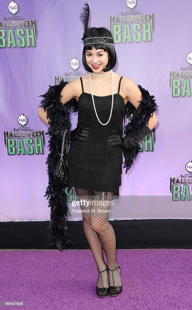 Actress Kira Kosarin attends Hub Network's First Annual Halloween Bash in Barker Hangar at the Santa Monica Airport on October 20, 2013 in Santa Monica, California.