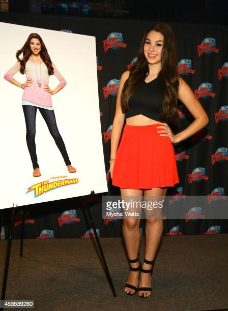 Actress Kira Kosarin visits Planet Hollywood Times Square on August 12 2014 in New York City