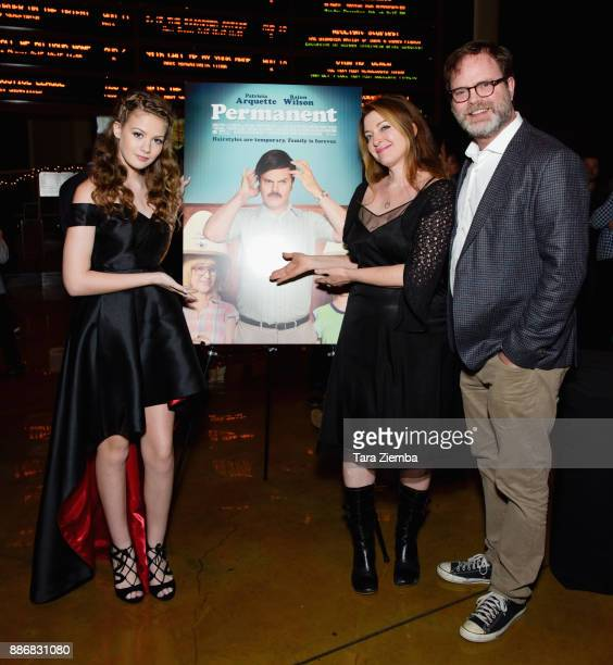 Actress Kira McLean writer/director Colette Burson and actor Rainn Wilson attend Magnolia Pictures' Los Angeles premiere of 'Permanent' at ArcLight...