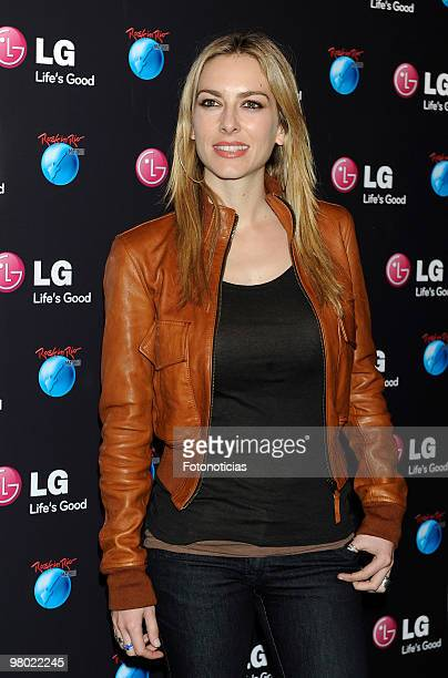 Actress Kira Miro attends the presentation of LG as sponsor of 'Rock In Rio Madrid 2010' at Puerta de America Hotel on March 24 2010 in Madrid Spain