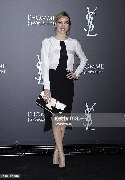 Actress Kira Miro attends the Yves Saint Laurent Beauty cocktail party at the Espacio Molteni Co on February 29 2016 in Madrid Spain