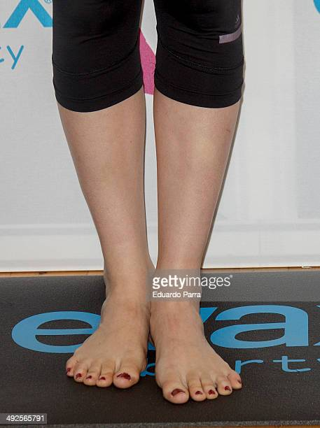 Actress Kira Miro attends yoga air masterclass by Evax at Reebok Sport Club on May 21 2014 in Madrid Spain