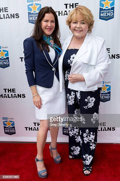 Actress Kira Reed Lorsch and Actress Patrika Darbo attend The Thalians Presidents Club Anchors Away Brunch at the California Yacht Club on June 5...