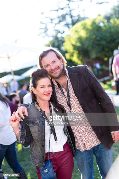 Actress Kira Reed Lorsch and Andreas Wettstein attend the UCLA Operation Mend 10 Year Anniversary at the Home of Founder Ron Katz Sponsored by The...