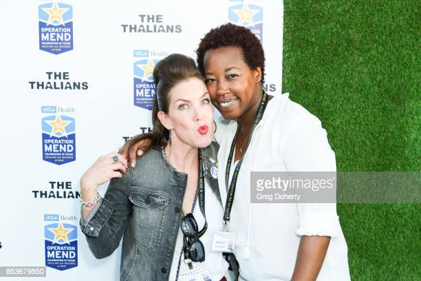 Actress Kira Reed Lorsch and Nicole McClinton attend the UCLA Operation Mend 10 Year Anniversary at the Home of Founder Ron Katz Sponsored by The...