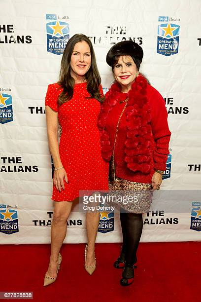 Actress Kira Reed Lorsch and Thalians Executive Board Member Stephanie Hibler arrive for The Thalians Presidents Club's 'Holiday Brunch Spectacular'...