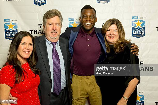 Actress Kira Reed Lorsch guest Blake Leeper and guest arrive for The Thalians Presidents Club's 'Holiday Brunch Spectacular' at Montage Beverly Hills...