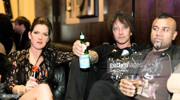 Actress Kira Reed Lorsch Guitarist Billy Morrison and Drummer Erik Eldenius attend the Kira Reed and Taimie Hannum Double Birthday Bash at Hard Rock...