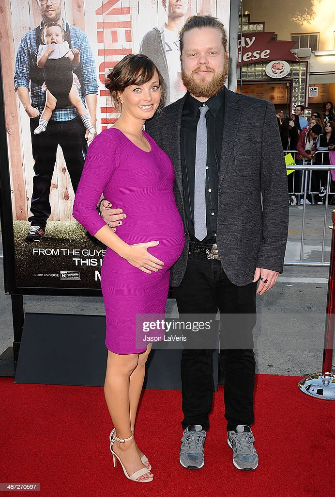 Actress Kira Sternbach and actor Elden Henson attend the premiere of 'Neighbors' at Regency Village Theatre on April 28, 2014 in Westwood, California.
