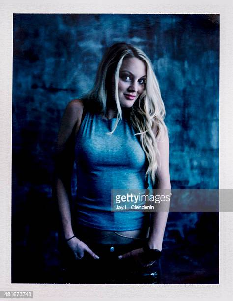 Actress Kirby Bliss Blanton of 'The Green Inferno' is photographed on polaroid film at ComicCon International 2015 for Los Angeles Times on July 9...
