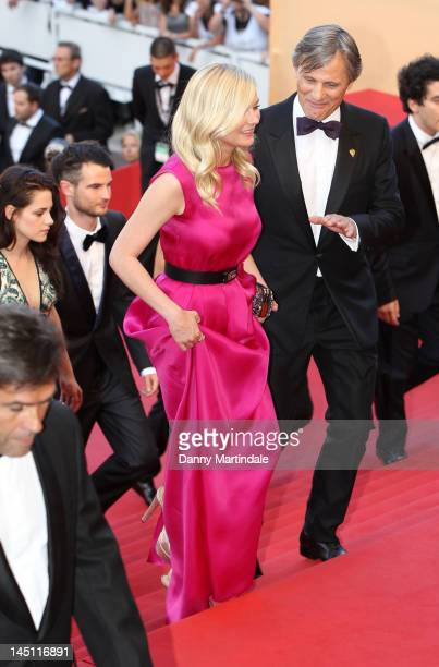 Actress Kirsten Dunst and Viggo Mortensen attend the 'On The Road' Premiere during the 65th Annual Cannes Film Festival at Palais des Festivals on...