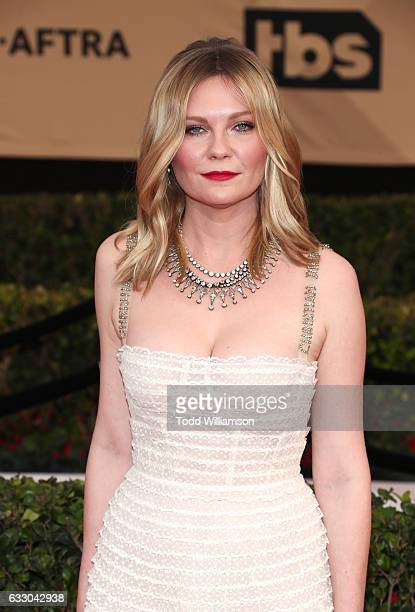 Actress Kirsten Dunst arrives at 23rd Annual Screen Actors Guild Awards at The Shrine Expo Hall on January 29 2017 in Los Angeles California