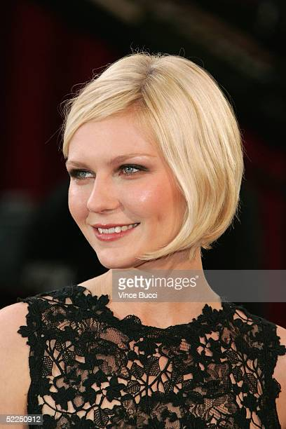 Actress Kirsten Dunst arrives at the 77th Annual Academy Awards at the Kodak Theater on February 27 2005 in Hollywood California