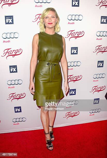 Actress Kirsten Dunst arrives at the Premiere Of FX's 'Fargo' Season 2 at ArcLight Cinemas on October 7 2015 in Hollywood California
