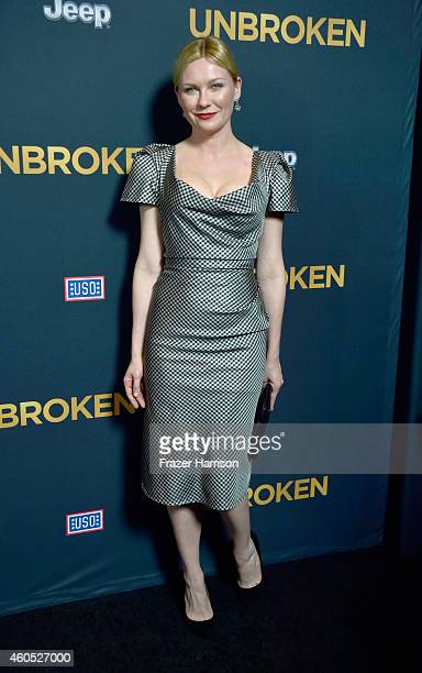 Actress Kirsten Dunst arrives at the Premiere Of Universal Studios' 'Unbroken' at TCL Chinese Theatre on December 15 2014 in Hollywood California